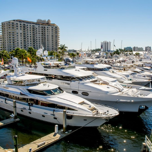 FLIBS photo of yachts tied up